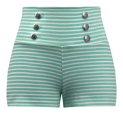 Sailor Striped Shorts in Mint