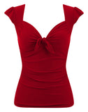 Sweetheart Vixen Tie Top in Cherry Red