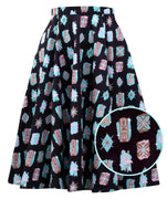Atomic Tiki Swing Skirt with Pockets