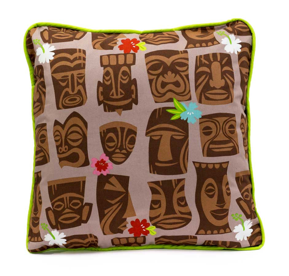 Tiki Party Retro Pillow