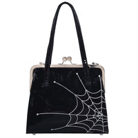 Spiderweb Kisslock Handbag by Acid Doll