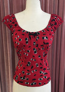 Cherry Pie Alison Top in Red & Black