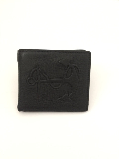Leather Anchor Wallet in Black