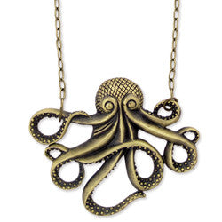 Antique Gold Octopus Necklace