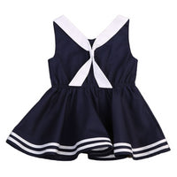 Sailor Girl Kids Dress in Navy