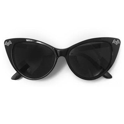 Silver Bat Charm Cat Eye Sunglasses