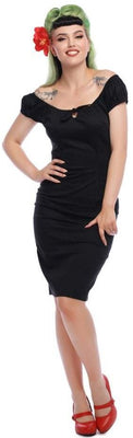 Black Bow Tie Lorena Pencil Dress