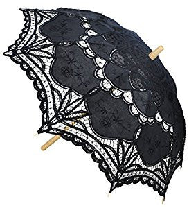 Victorian Inspired Lace Parasol - More Colors Available