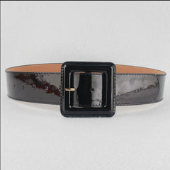 Patent Vinyl Belt in Black