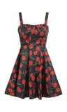 cherry bomb pinup print ixia dress retro rockabilly style