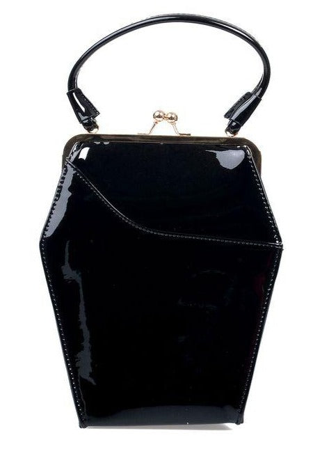 To Die For Coffin Handbag in Patent Vinyl