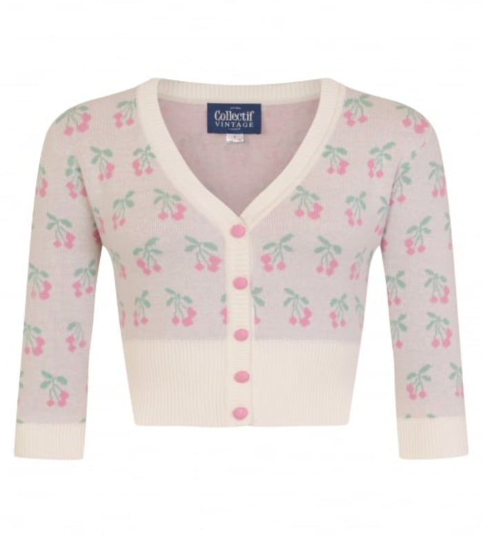 Pink Cherry Evie Cardigan by Collectif Vintage
