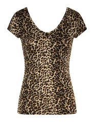 super soft v-neck leopard t-shirt perfect, leopard, super soft, t-shirt, v-neck, punk, pin up, party, slimming, gold, leopard print, night, bundy, married, top