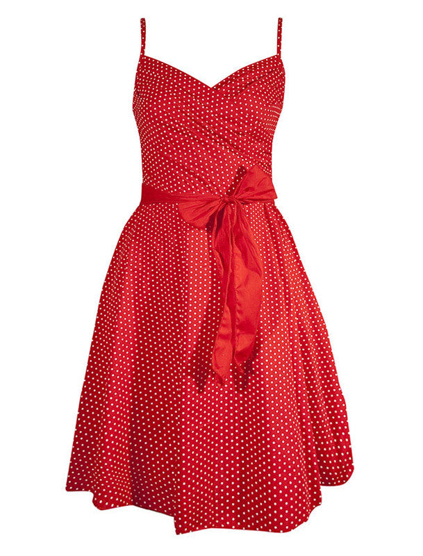 Pin Me Up Swing Dress - Red