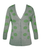 Lady Luck Dice Cardigan - Green
