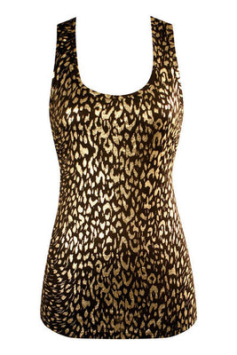 She's a Wild One Tank Top - Leopard - FINAL SALE