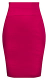 Bow Back Pencil Skirt - Fuchsia