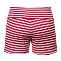 Red Sailor Striped Shorts