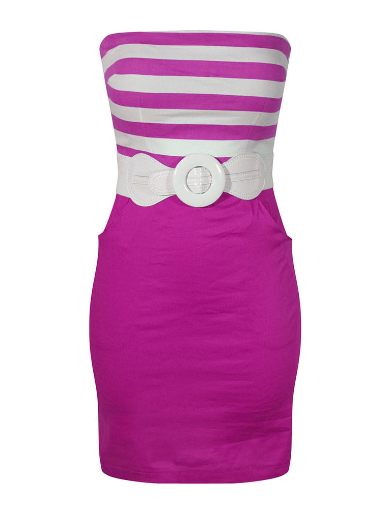 Miss Poison Tube Dress - Fuchsia