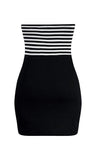 Sailor Girl Stripe Dress - Black & White