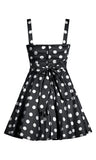Retro Polka Dot Swing Dress in Black