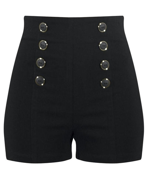 High Waisted Pin Me Up Shorts Retro Pinup Style