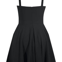 Black Sailor Girl Swing Dress with Pockets