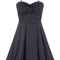 She's a Doll Polka Dot Swing Dress - Black