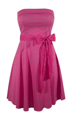 Retro Style Pin Up Dress in Fuchsia Pink - FINAL SALE