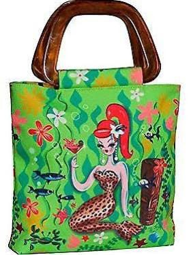 Leopard Mermaid Tiny Tiki Tote by Fluff