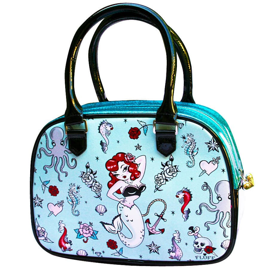 Molly Mermaid Bowler Handbag by Fluff *Limited Edition*