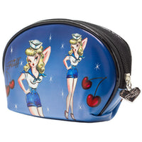 Sailor Girl Cosmetic Make Up Bag by Fluff