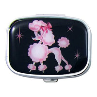 Retro French Poodle Lacquered Metal Pill Case by Miss Fluff