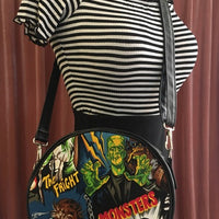 Frankenstein Monsters Circle Crossbody Bag