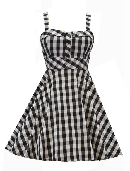 Retro Gal Gingham Swing Dress