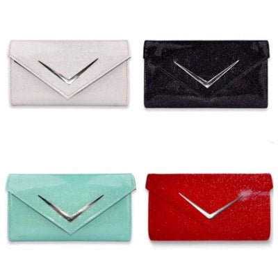 Chevron Cadi Wallets in Glitter Sparkle