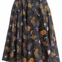 Pumpkins and Webs Harlow Swing Skirt