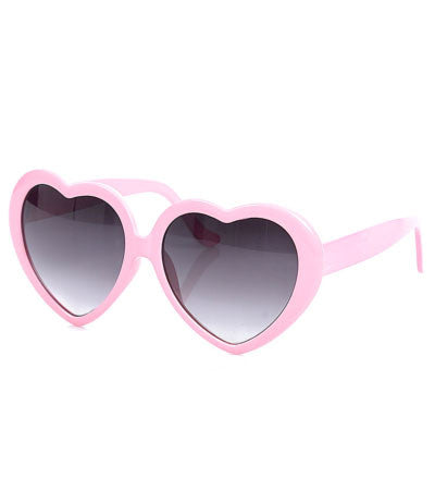 Heart Shaped Sunglasses-Pink