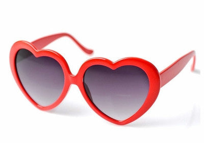 Heart Shaped Sunglasses-Red