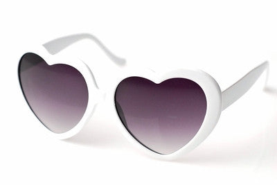 Heart Shaped Sunglasses-White