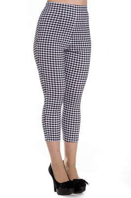 Gingham High Waist Retro Judy Capri