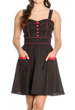 Retro Sweetheart Dress in Black & White Polka Dot
