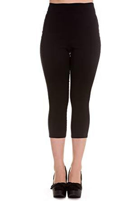 Black High Waist Retro Capris by Hell Bunny