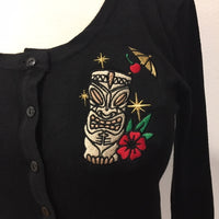 Black Atomic Golden Tiki Cardigan