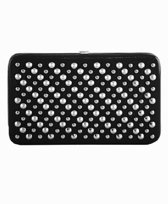 Black Patent Studded Wallet