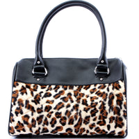 Mini Atomic Tote in Leopard and Matte by Lux De Ville