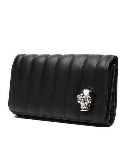 Lady Vamp Skull Wallet in Black Matte by Lux De Ville