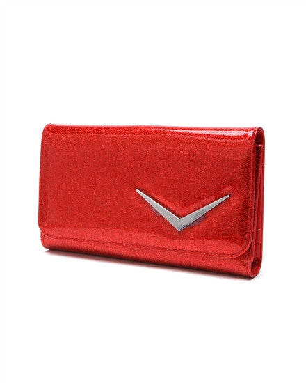 Lux De Ville Getaway Wallet in Red Sparkle