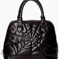 Spider Web Malice Bag in Black