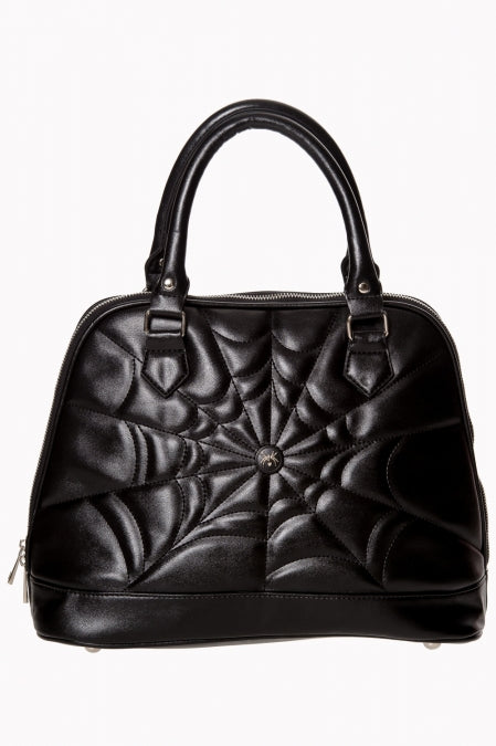 Spiderweb Malice Bag in Black by Banned UK